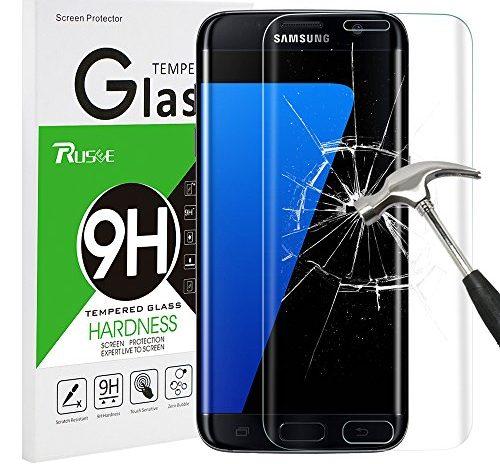 Galaxy S7 Edge Panzerglas Schutzfolie, Rusee 9H Härtegrad ...