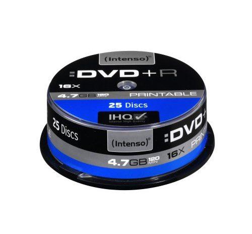 intenso dvd r 4 7 gb 16x dvd rohlinge bedruckbar kratzfest. Black Bedroom Furniture Sets. Home Design Ideas
